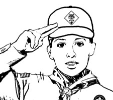 The two fingers stand for the two points of the Cub Scout Oath - to help other people and to obey.
